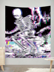 Psychedelic Skull Wall Tapestry