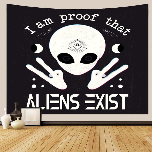 Alien Exist Wall Tapestry