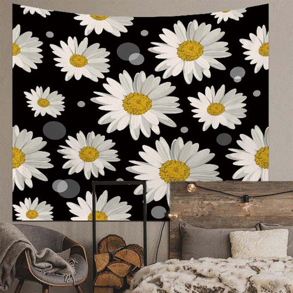 Daisy Floral Wall Tapestry