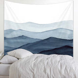 Indigo Abstract Mountain Wall Tapestry