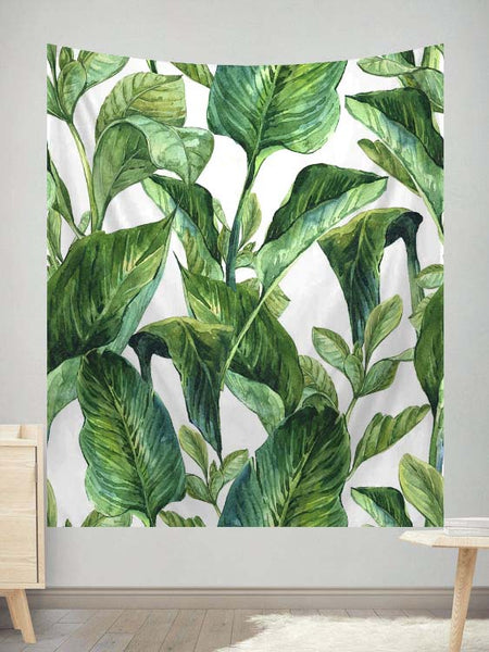 Tropical Leave Tapestry