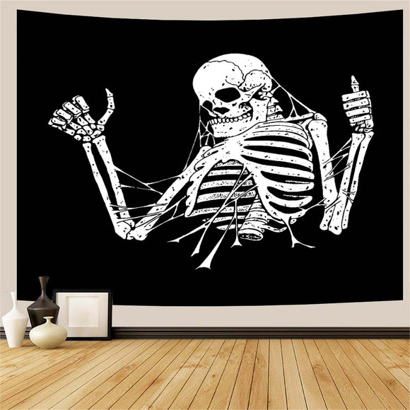 Thumbs Up Skeleton Tapestry