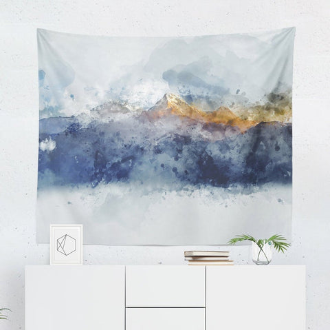 Abstract mountain ranges Tapestry