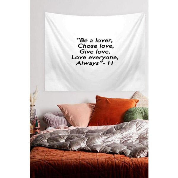 Be A Lover Quote Tapestry