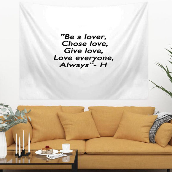 be-a-lover-quote-tapestry