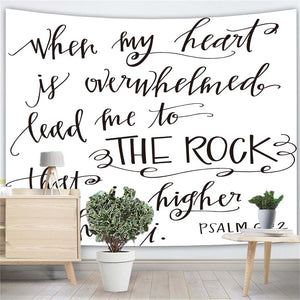 Bible Verse Quote Wall Tapestry