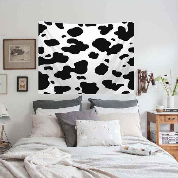 Black And White Cow Print Tapestry