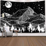 black-and-white-mountains-moon-tapestry