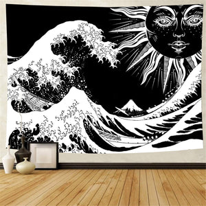 black-and-white-the-great-wave-off-kanagawa-wall-tapestry