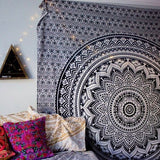 Black Mandala Tapestry