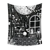 Black Witch Wall Tapestry