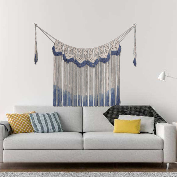 blue-and-beige-woven-tapestry