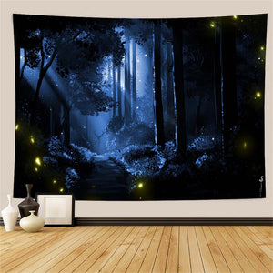 blue-forest-wall-tapestry