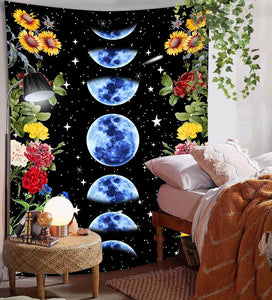 blue-moon-phase-floral-tapestry
