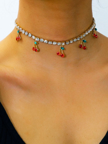 Cherry Necklace Choker