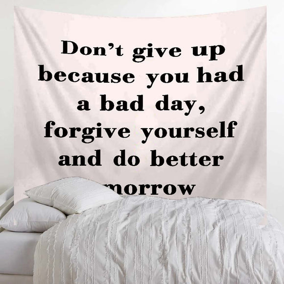 Don't Give Up Quote Tapestry