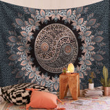 Floral Indian Mandala Tapestry