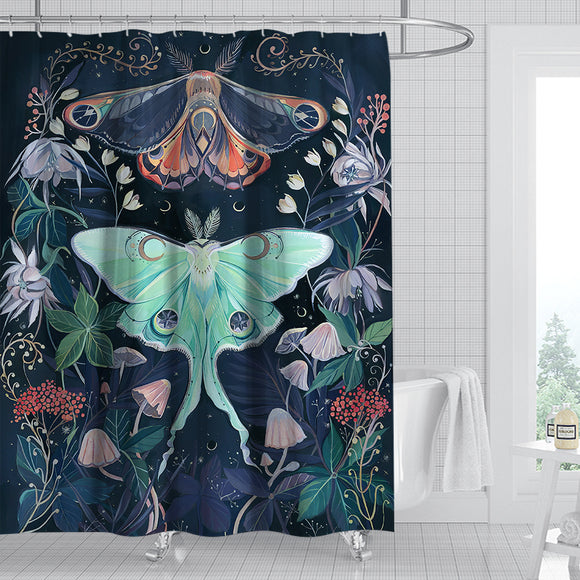 floral-moon-moth-shower-curtain