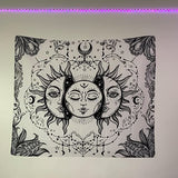 Sun Moon Wall Tapestry