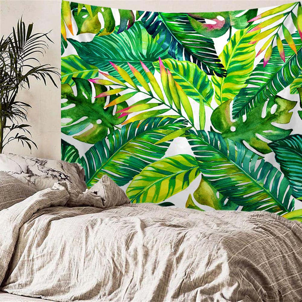 Fresh Banana Leaves Tropical Tapestry