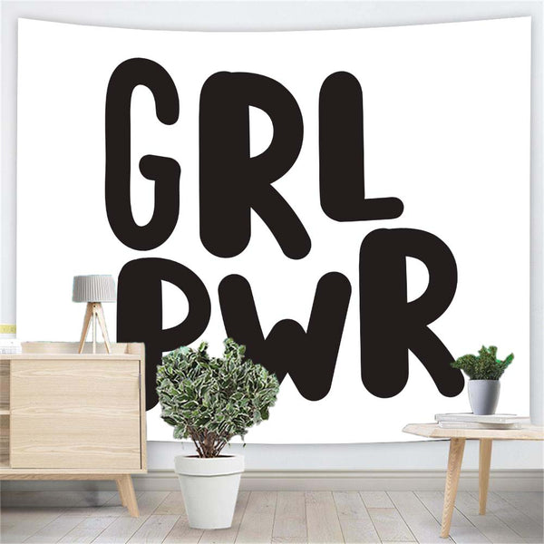 Girl Power Letter Wall Tapestry