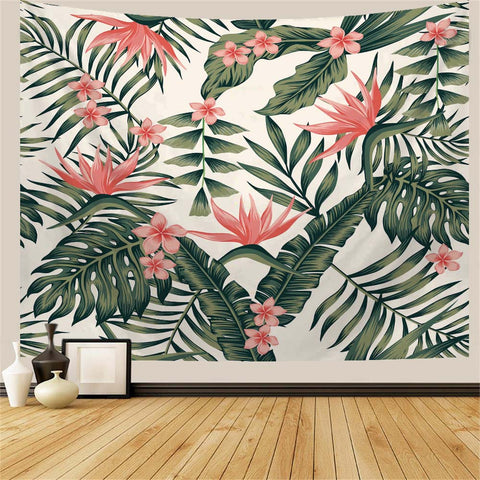 Green Leaves Of Palm Trees Tropical Tapestry