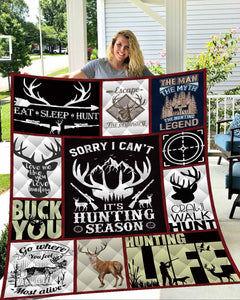 Hunting Quilt Blanket All-Season Comforters