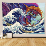 japanese-wave-demon-wall-tapestry
