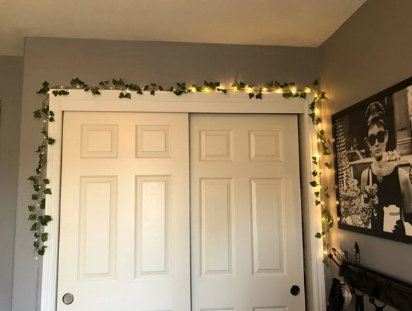 Artificial Grape Leaves Vine String Lights
