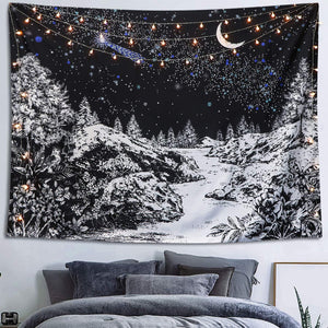lunar-forest-night-black-and-white-wall-tapestry