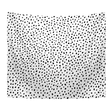 Minimalist Black And White Tapestry