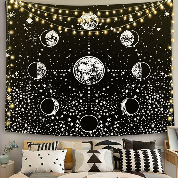 moon-star-black-and-white-tapestry-tp1171