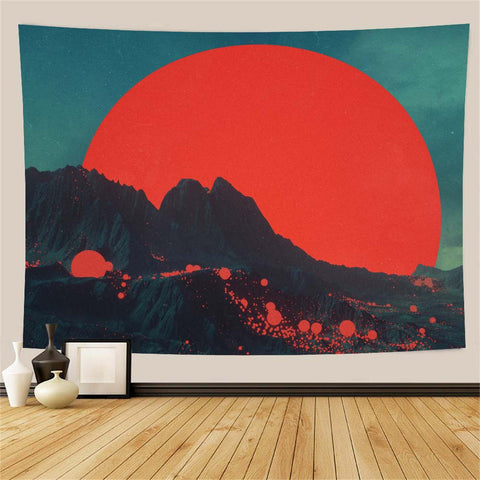 mountain-red-moon-wall-tapestry