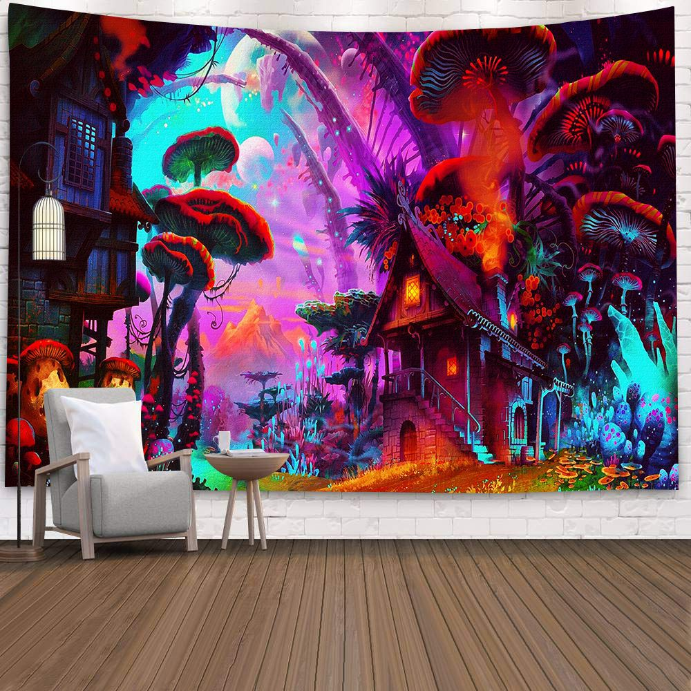 Mushroom Psychedelic Tapestry