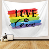 Love is love - LGBT Pride Slogan Tapestry