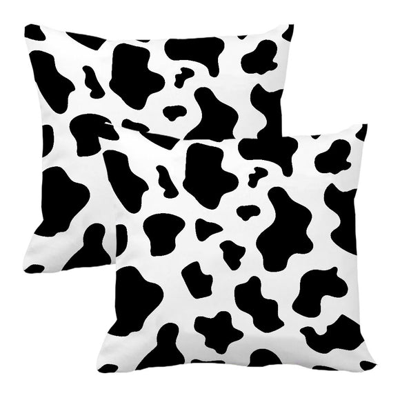 Pack of 2 Cow Print Pillow Covers