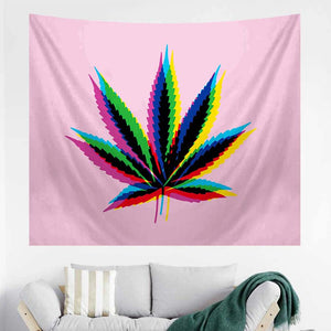 Pink Psychedelic Trippy Tapestry