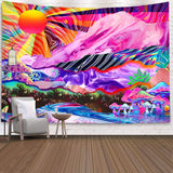 psychedelic-sunshine-mountain-mushroom-tapestry