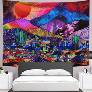 psychedelic-trippy-sun-mushroom-cactus-tapestry
