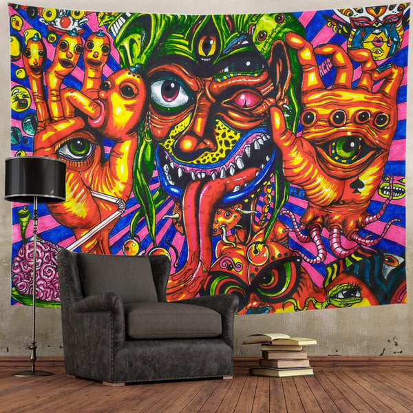Psychedelic Trippy Wall Tapestry D