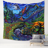 Psychedelic Trippy River Wall Tapestry