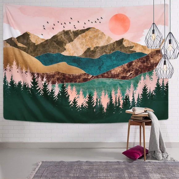 red-sun-peak-aesthetic-wall-tapestry