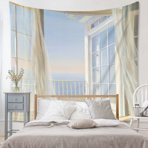 Seaside Windows Tapestry
