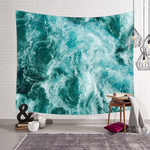 Seawater Ocean Wave Wall Tapestry
