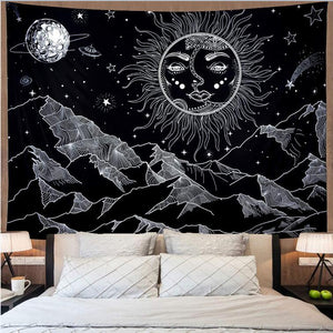 space-sun-moon-mountain-tapestry