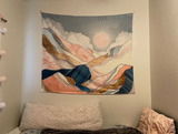 Spring Morning  Mountain Wall Tapestry