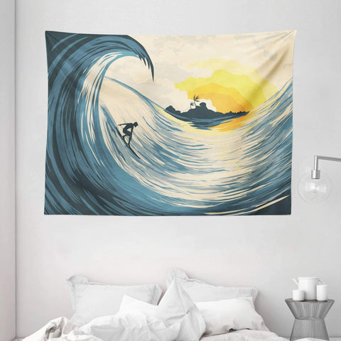 tropical-wave-surfer-tapestry