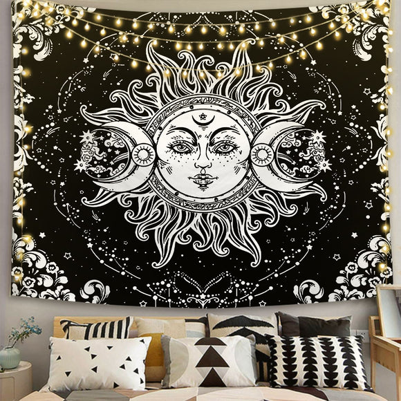 sun-face-moon-black-and-white-tapestry