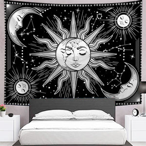 sun-moon-star-black-and-white-tapestry