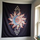 Sun Moon Wall Tapestry 03